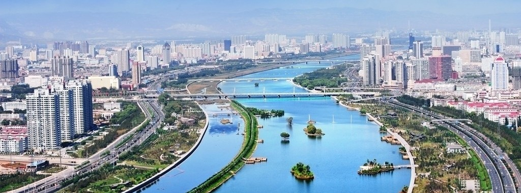 Amazing view over the city of Taiyuan